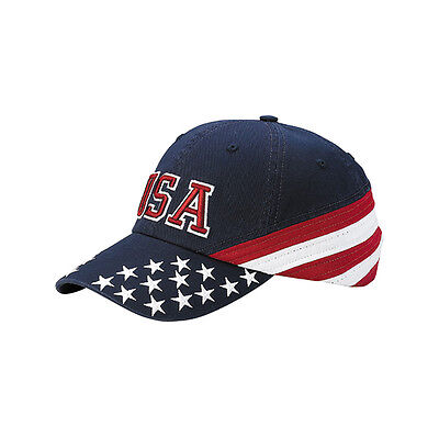 Eishockey WM USA Team USA Cap Kappe Stars and Stripes  Eishockey  Metall Buckle