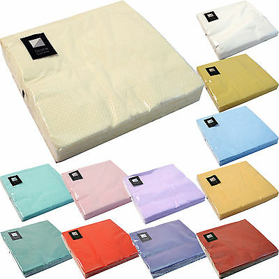 3 Ply Paper Napkins (40cm x 40cm) Square Party Serviettes Tableware FREE P+P!!