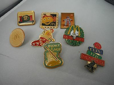 Vintage Mcdonald's Pins Lapel Pin Collectibles Costume Jewelry Box J