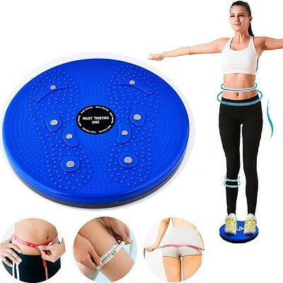 Twist Waist Torsion Disc Board Aerobic Exercise Fitness Reflexology Magnets New