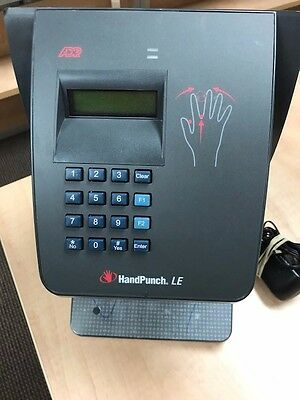ADP Handpunch LE Timeclock - HP-2000 Ethernet version w/cables & key