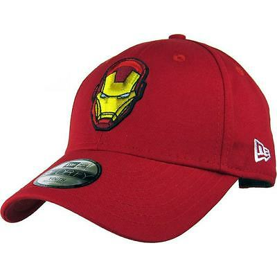 |80468886-RED| Gorra New Era – 9Forty Hero Essential Iron Man rojo 2017 Niños Al