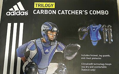 Adidas Trilogy Carbon Catcher's Combo Baseball Softball Sz Youth Large Red