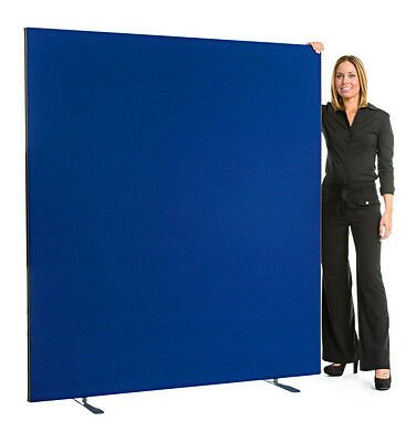 Office Screens Partitions Room Dividers 1600mm wide x 1800mm Royal Blue