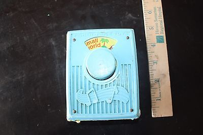 Vintage Fisher Price Pocket Radio Music Box Plays  Its a Small World