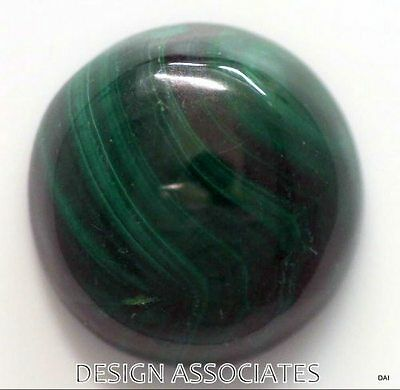 Malachite Cabochon 18.40 Mm Round Cut Great Green Color  All Natural