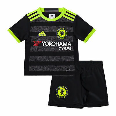 adidas Chelsea Football Club Away Mini Kit Shirt and Shorts Kids age 2-3 2016-17