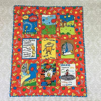 Dr Seuss Lorax Quilt Blanket Baby Reversible Cat Hat Grinch wall tapestry