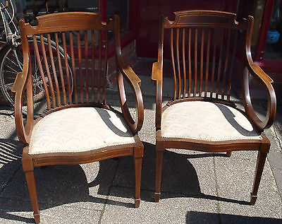 Pair of Edwardian Armchairs.