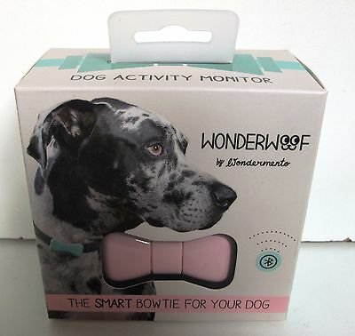 New WonderWoof The Smart  Activity Monitor Bow Tie For Your Dog