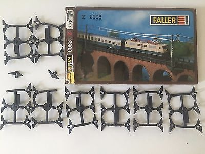 Faller z scale Mounting Plates for Catenary Masts 2908- 48 ct.