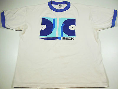 Vintage 1996 Beck Shirt 2 Turntables & A Microphone Sz. XL. Free Shipping.