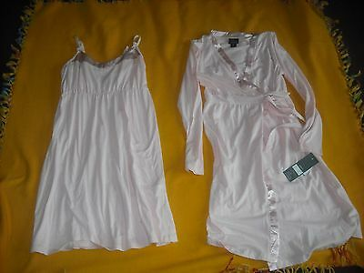 Womens Maternity Lot 2 pc NWT Nursing Nightgown Robe Size Small Retail  54.00