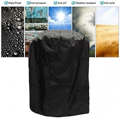 KING DO WAY Barbecue Cover Duty Waterproof Round BBQ Cover Grill Outdoor Dust x