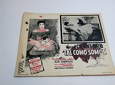 Scarce 1950's Lobby Card From Mexico / Autumn Leaves With Joan Crawford