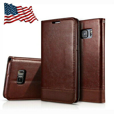 For Samsung Galaxy S7/S6 Edge Stand Cover Leather Wallet CardS Holder Flip Case