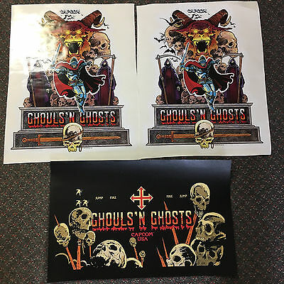 Ghouls 'n Ghosts Side Art & CPO Arcade Game Cabinet
