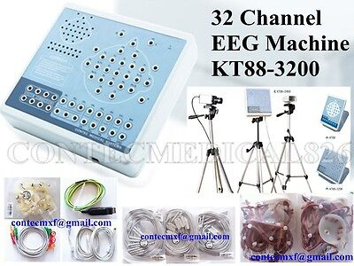 CE Digital Brain Activity Mapping system KT88-3200 EEG machine Software+Tripods