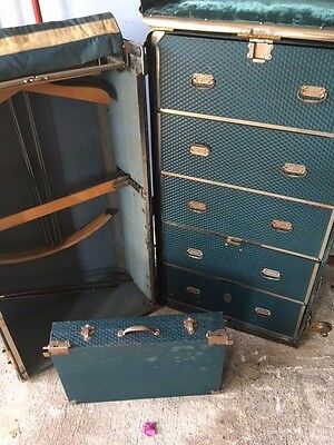 1920's Antique Steamer Luxury Garment Trunk