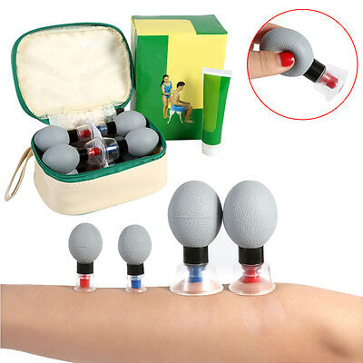 18 Household Vacuum Suction Magnetic Acupuncture Therapy Moxibustion Cupping Set