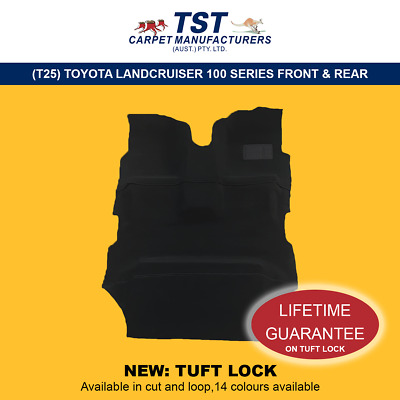 Moulded Car Carpets (T25) Toyota Landcruiser 100 Series Front & Rear