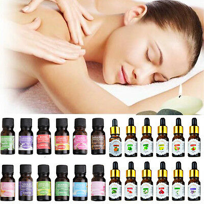 100% Pure & Natural 10ml Essential Oil  Aromatherapy Diffuser - Choose Fragrance