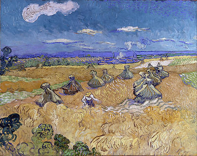 Vincent van Gogh - Wheat Fields  Painitng Canvas wall home Decor high quality