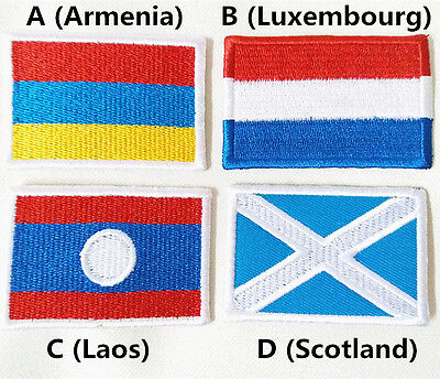 Armenia Luxembourg Laos Scotland World Flag Patch 4x6cm Embroider Iron on Patch