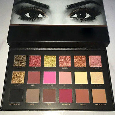 BEAUTY 18 Colors Textured Palette Cosmetic Makeup Eye Shadow + Liquid Lipstick