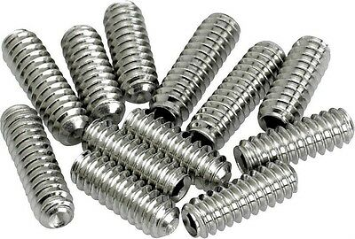 12 Bridge Saddle Height Screw CHROME M3X10 4 Fender Gibson Ibanez Guitar Bass