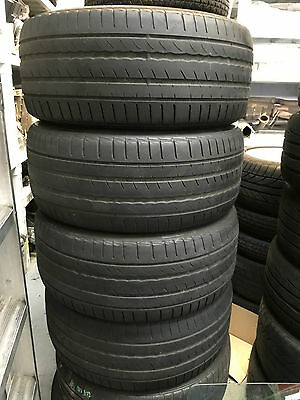 4 X 225/45/17 Inch Pirelli Cinturato P1 Tyres Used
