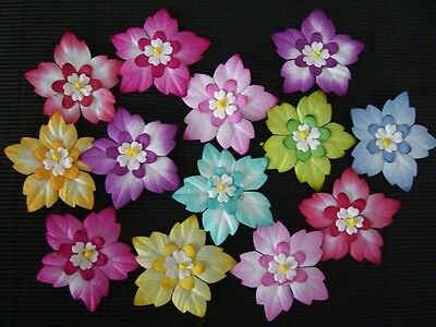 20 x  43mm Mulberry Paper FLOWERS MPFF31  for scrapbooking & cardmaking