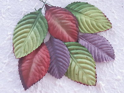 30 Mulberry Paper ROSE LEAVES PRLX  3 sizes 50-65mm Scrapbooking Cards Craft
