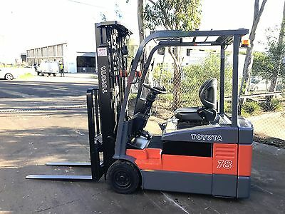 Toyota Electric Forklift 1.8 Ton 4.3M Lift Container Mast $15,999+Gst Negotiable