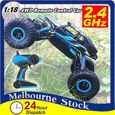 4WD 1/18 2.4G Radio Remote control RC Truck Car Off Road Buggy Monster Climbing