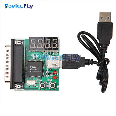 Powerful 4-Digit PC Analyzer Diagnostic Motherboard Tester USB Post Test Card