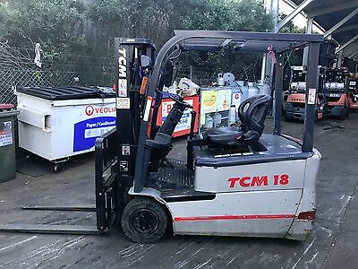TCM Electric Forklift 1.8 Ton 4m Lift Container Mast $7,499+GST NEGOTIABLE
