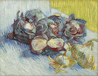 Vincent van Gogh - Red cabbages and onions Painitng Canvas Print wall home Decor