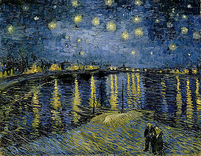 Vincent van Gogh - Starry Night Painitng Canvas Print wall home Decor