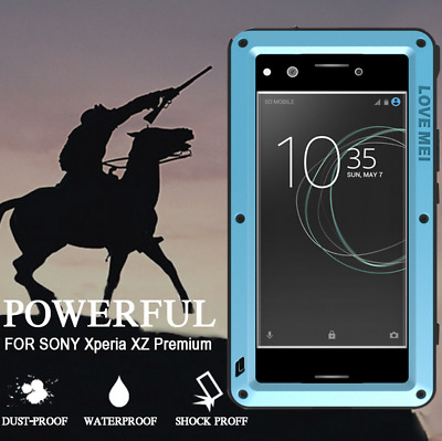 LOVE MEI Powerful Metal Waterproof Shockproof Case For Sony Xperia XZ Premium