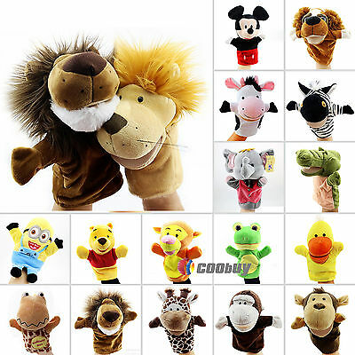 Animal Cartoon Hand Glove Puppets Plush Doll Kids Toys Role Play Telling Stories