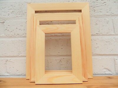 Natural Pine Photo Frames/Picture Frames/Crafting/Paint your Own/Choice 4 Sizes