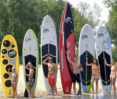 Aqua Marina Sup Stand Up Planche Pagaie Gonflable Pompe De Surf Inflatab