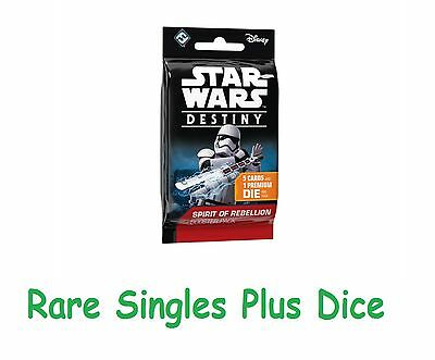 Star Wars Destiny - Spirit of the Rebellion - Rare Singles with Dice