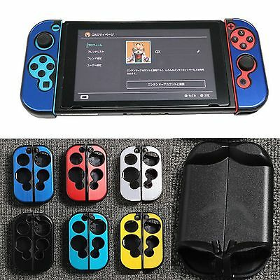 1 Pair Aluminum Housing Shell Anti-slip Case Cover for Nintendo Switch Joy-Con