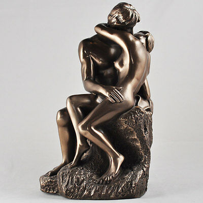 """ The Kiss "" Man / Lady Cold Cast Bronze Sculpture / Figurine.New."