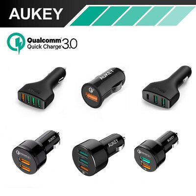 Quick Charge 3.0 Aukey 3-Port USB Car Charger For iPhone Samsung Huawei Phone