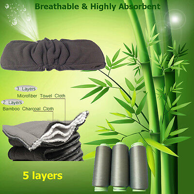 Hot 2PCs/Set 5 layers Bamboo Fiber Insert Liners For Cloth Diaper  Changing Pad