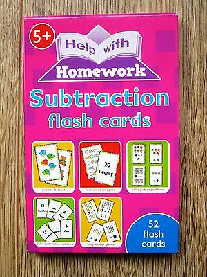 Year 1 and 2 Subtraction Flash Cards Age 5 6 7 NEW Maths Educational Game KS1