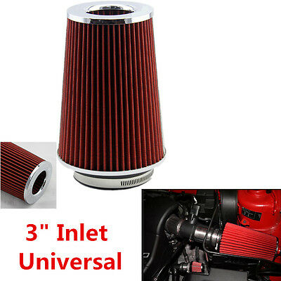 Universal Aluminum 3'' Race Sports Air Intake Cone Filter Cleaner Vent Crankcase